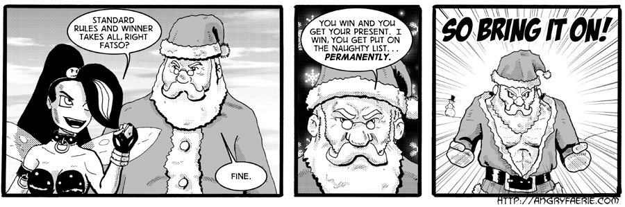 The First Rule of Santa's Fight Club...